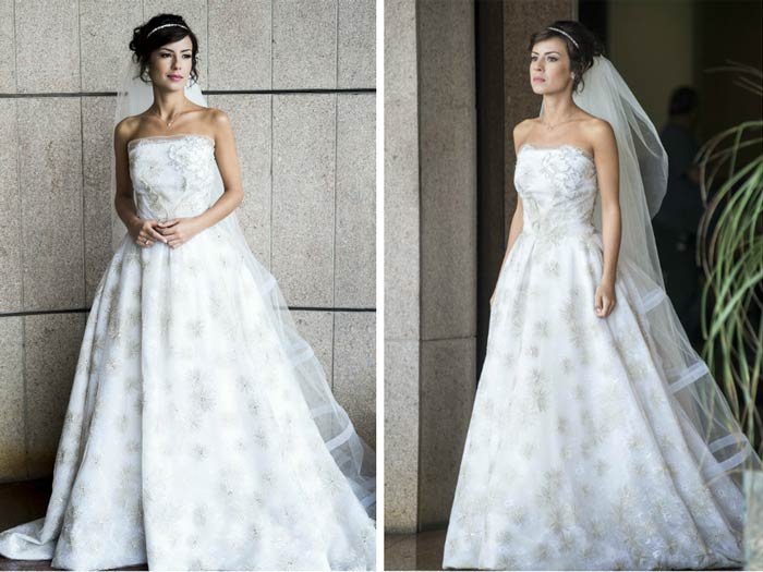vestido de casamento de acordo com o tipo físico Evasê