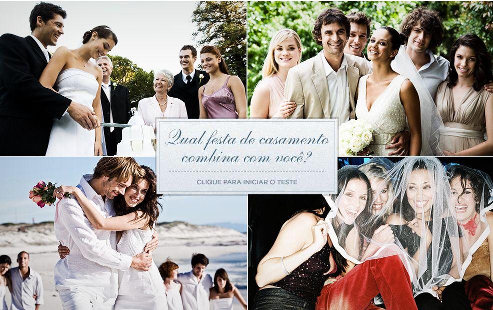Que tipo de festa de casamento combina mais com você?