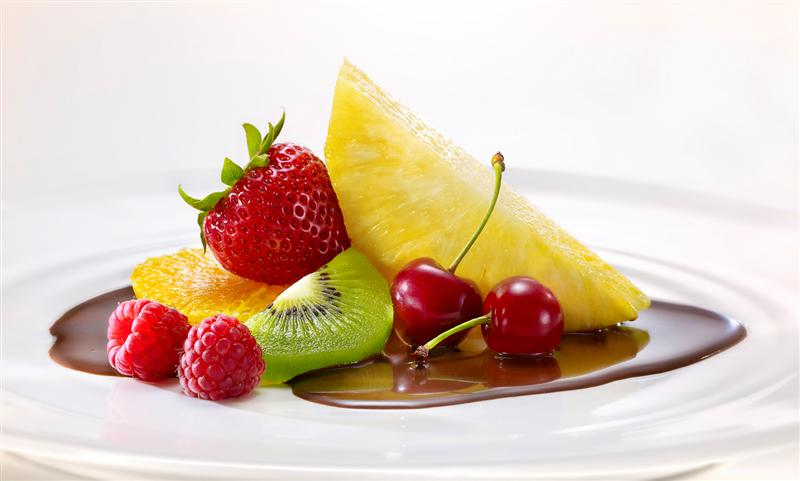 ganache com frutas