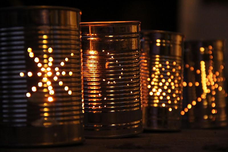 lanternas de lata