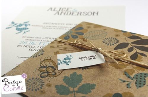 convite de casamento - Boutique do Convite