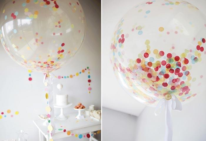8 maneiras de deixar um balão de festa mais charmoso