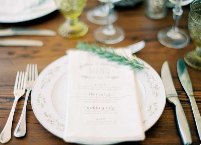 Ervas aromáticas na decoração do casamento - alecrim