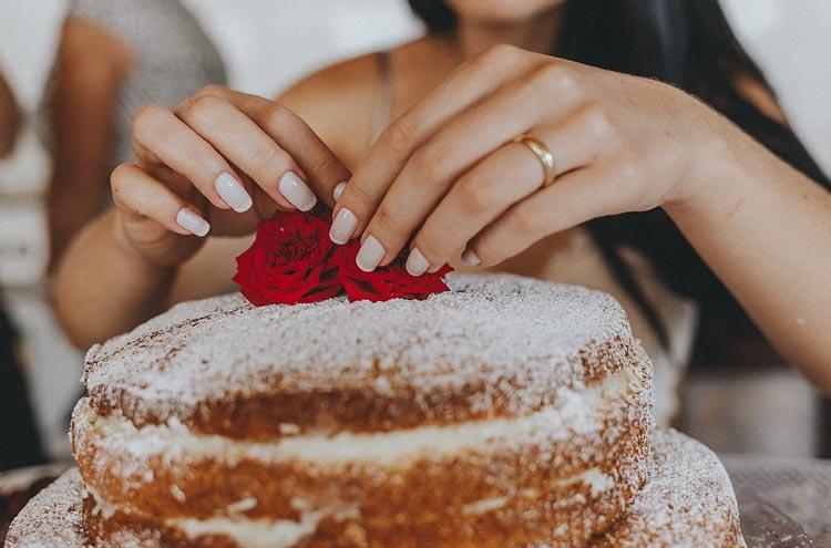casamento civil em casa - bolo