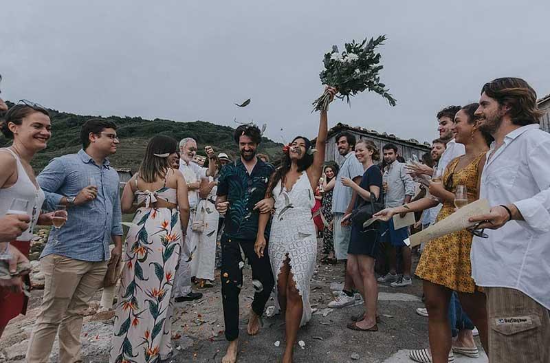 Casamento na Praia do Rosa: Barbara & David