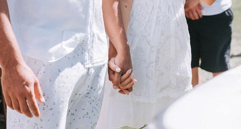 casamento Farol de Santa Martha - traje dos noivos