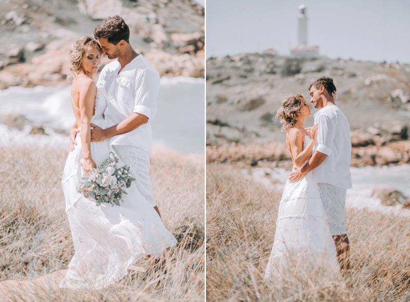 casamento Farol de Santa Martha - ensaio dos noivos
