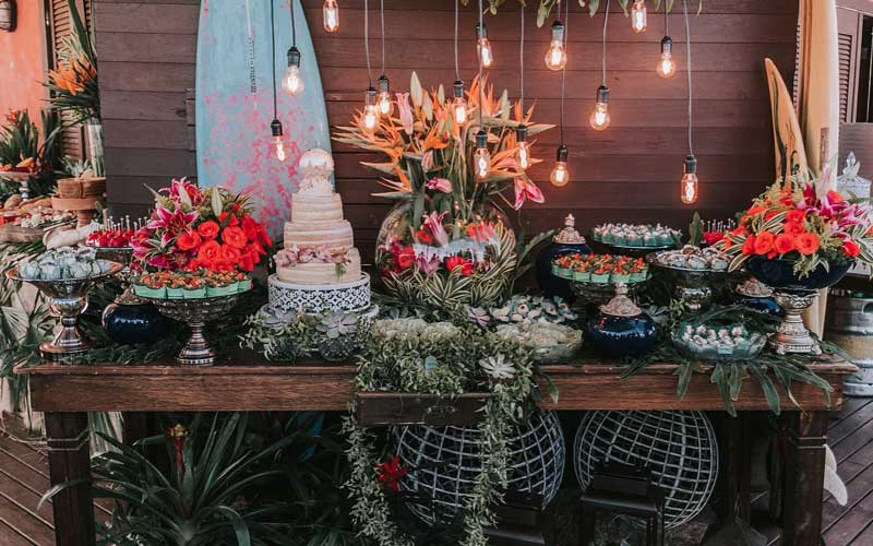 casamento Farol de Santa Martha - mesa de doces