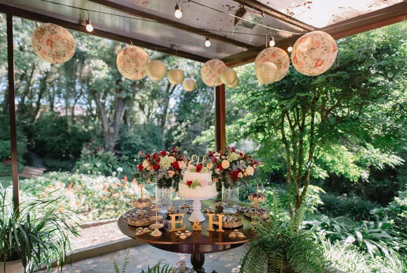 casamento religioso - mesa do bolo