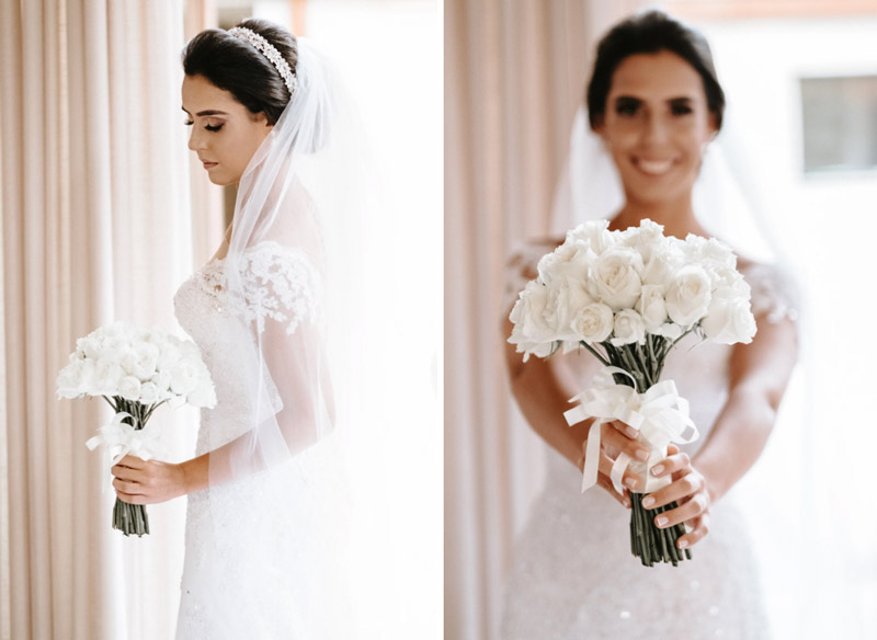 Casamento clássico com recepção ao ar livre - Look da noiva