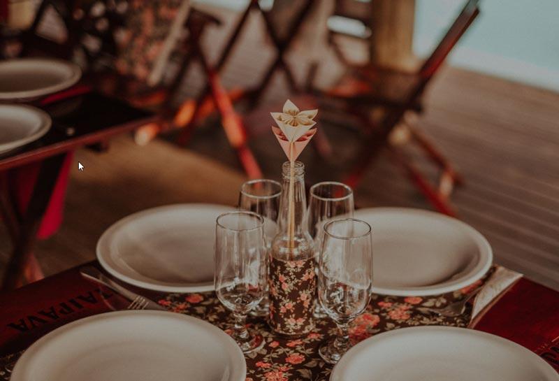 Casamento DIY - Lu e Rodolfo - decoração da mesa