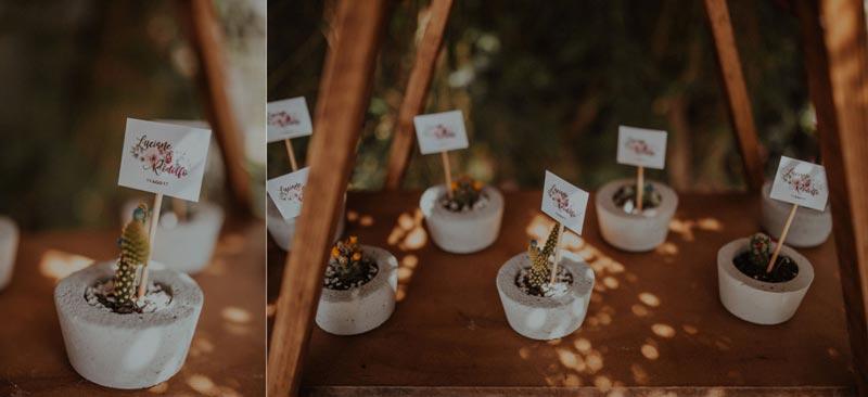 Casamento DIY - Lu e Rodolfo - vasinhos de concreto