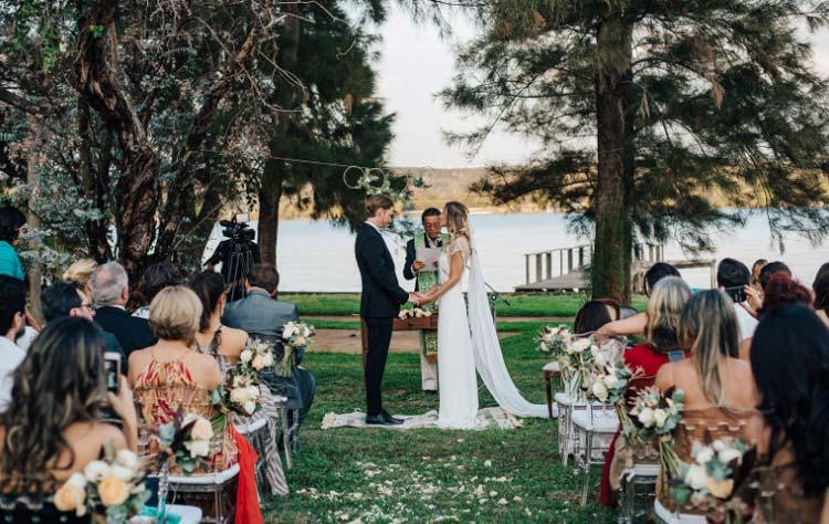 casamento ao ar livre - cerimônia
