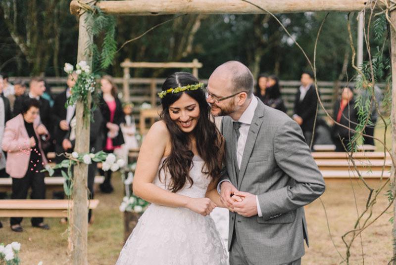 Casamento com decoração botânica: Ana e Samuel
