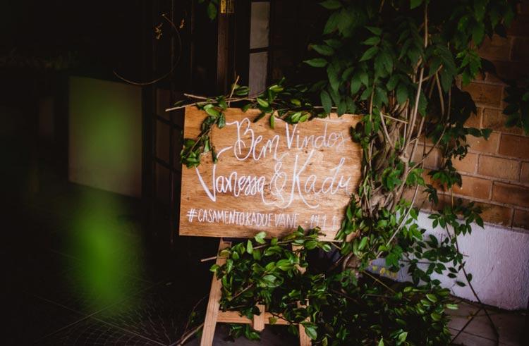 Casamento rústico - decoração botânica
