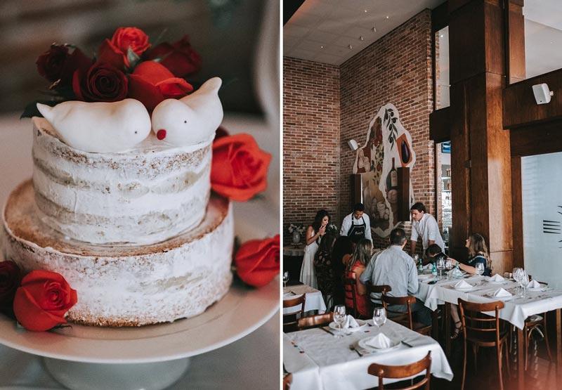 Casamento civil - recepção dos convidados