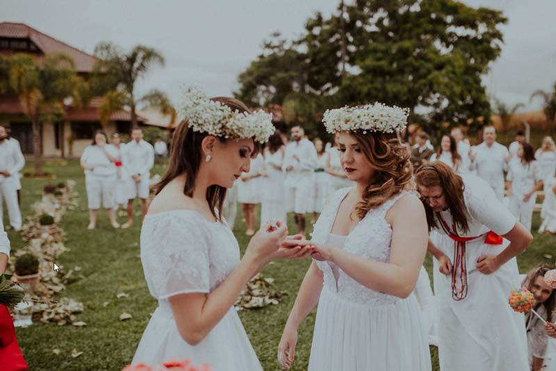 Casamento ao ar livre - Casamento Gay - Casamento Homo afetivo