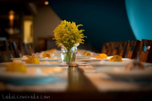decoração de casamento amarela