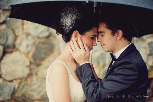 casamento na chuva