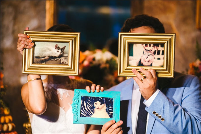 porta retratos na decoração do casamento