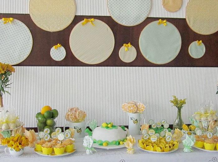 Chá de cozinha: Tema Limão Siciliano