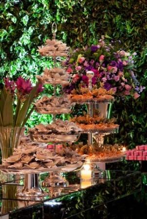 decoração de casamento lilás e rosa