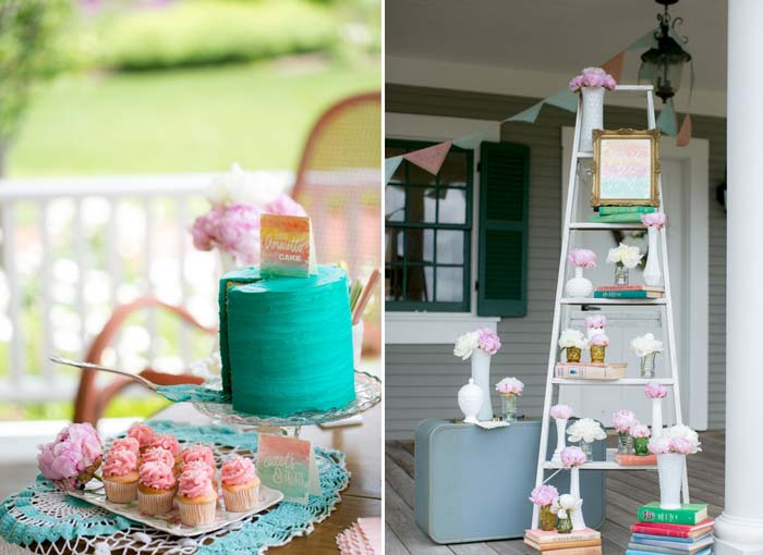 decoração de casamento verde e rosa
