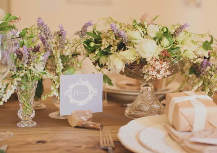 Cake Table Flower Arrangements