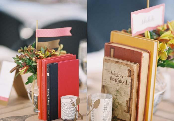 Decoração com livros