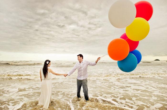 Ensaio com Balões