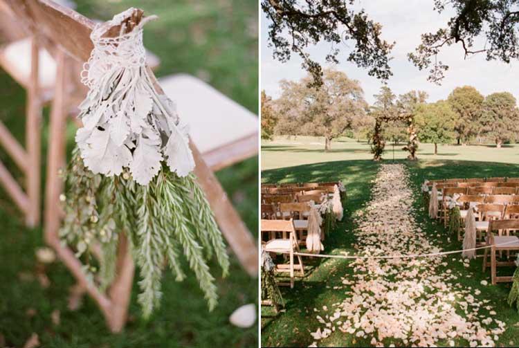 Ervas aromáticas na decoração do casamento - cerimônia