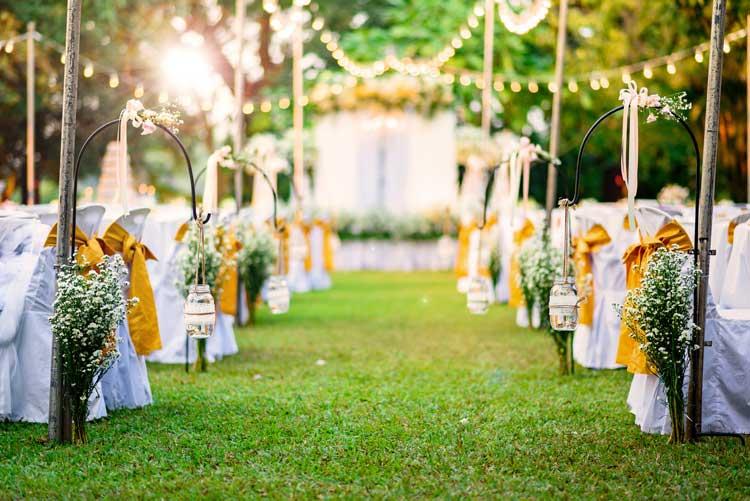 Espaço para casamento: festa ao ar livre