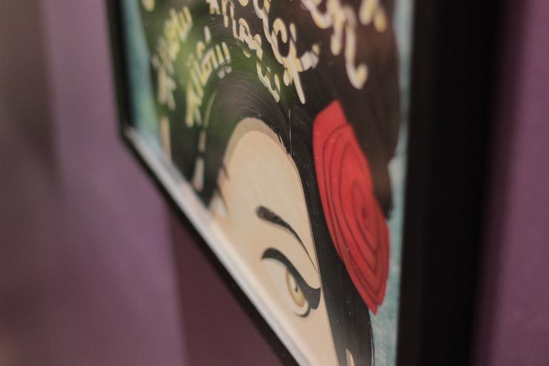 sala de casa - quadro Amy Winehouse