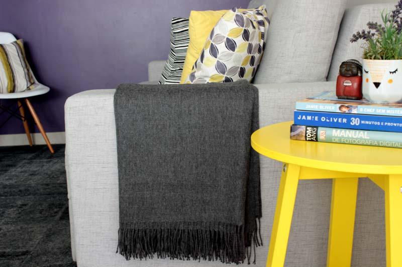 sala de casa - manta para sofá