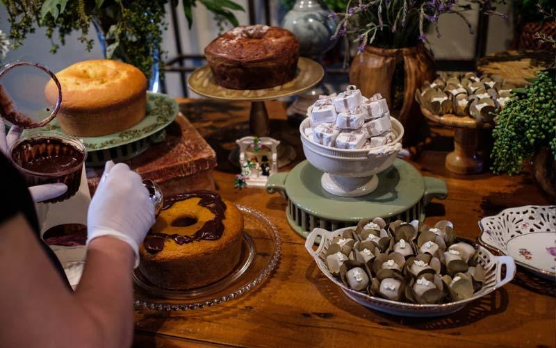 mesa de bolos caseiros foto 1