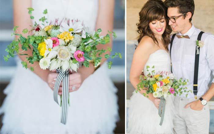 10 paletas de cores para o seu buquê de noiva