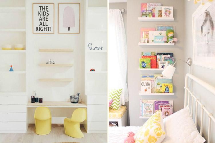 quarto infantil - cantinho da leitura