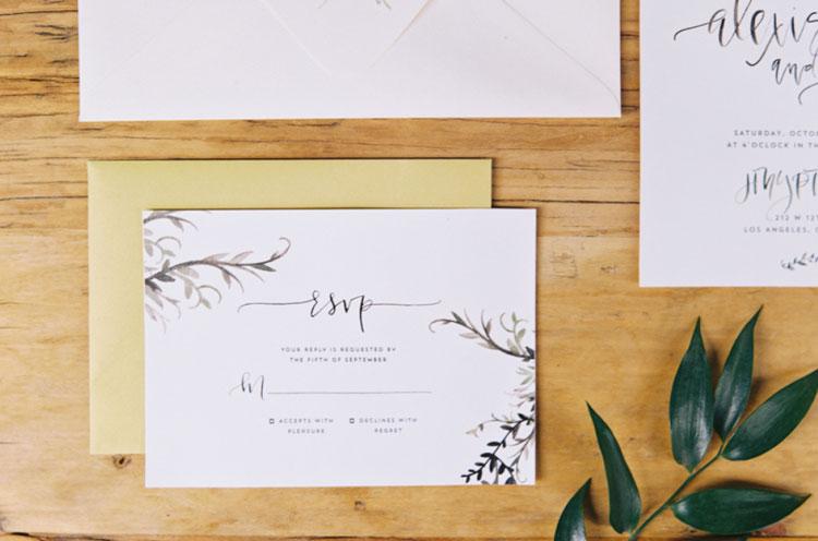 R.S.V.P. - entregue junto com o convite de casamento