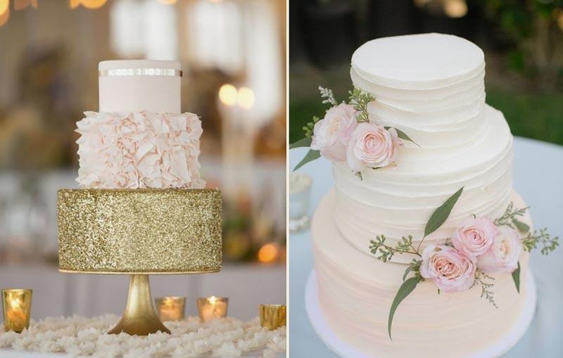 tendências do Pinterest - bolo de casamento