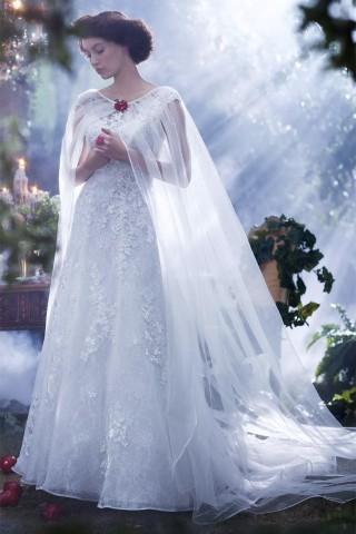 Vestido_de_noiva_princesa_Ariel_Branca_de_neve