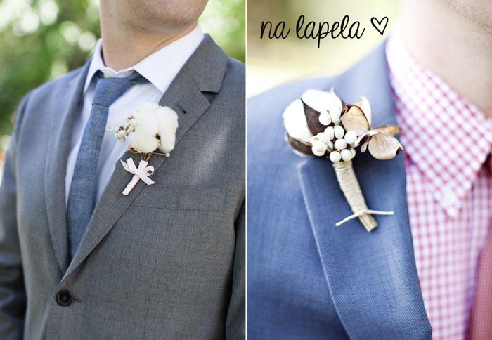 Decoração de casamento com algodão