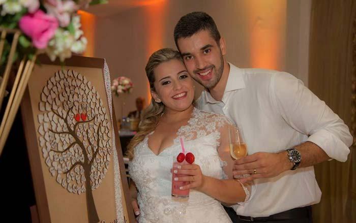 Árvore de assinaturas  para casamento