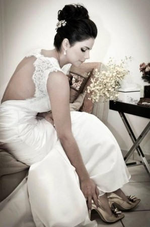Make e cabelo para noivas morenas