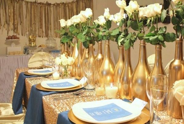 decoração de bodas de ouro