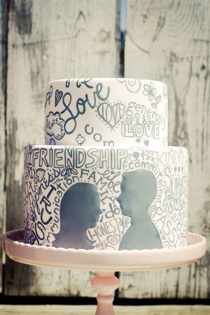 bolo de casamento moderno