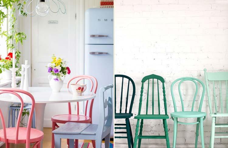 Cadeiras diferentes e sua casa + contemporânea