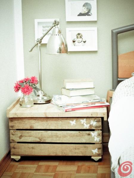 decoração com caixote de madeira