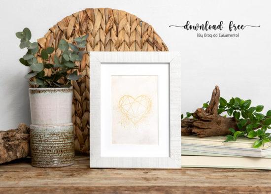 Poster gratuito: Coração geométrico
