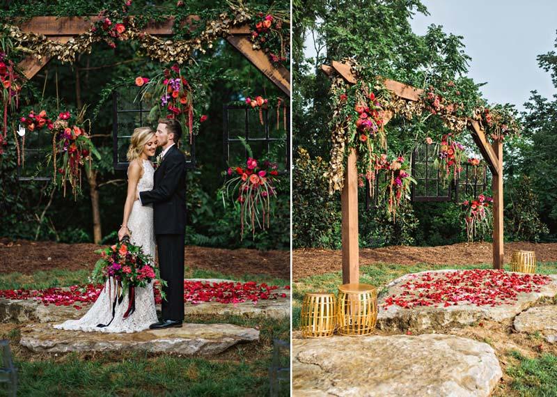 Casamento ao ar livre: Inspirações para decorar o altar da cerimônia - na grama