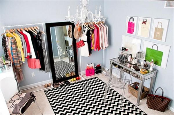 decoração de closet
